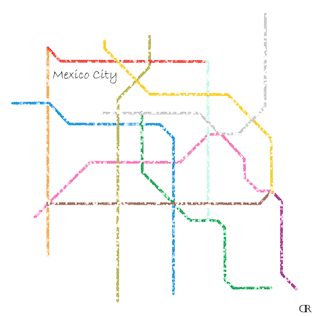 Mexico City Subway Map Art by Design Reader