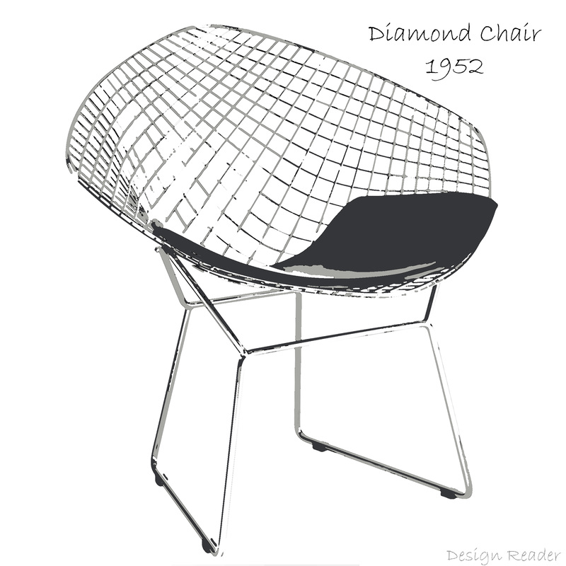 Diamond Chair by Harry Bertoia Picture