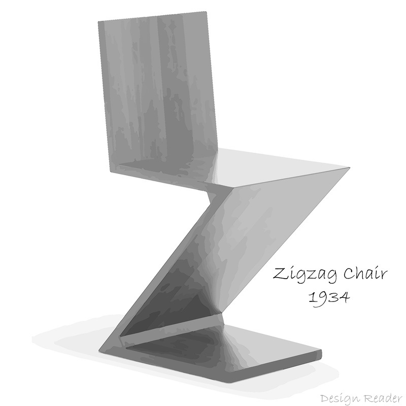 Zigzag Chair by Gerrit Rietveld