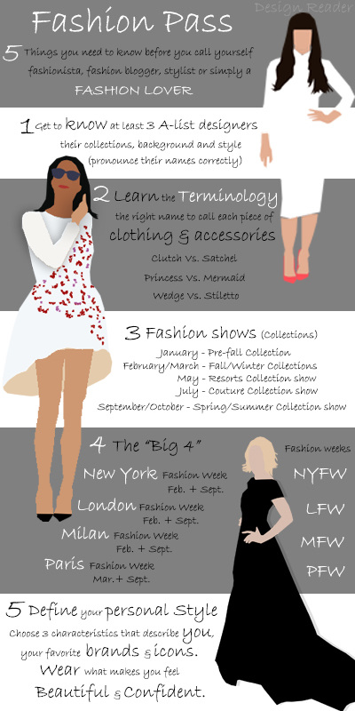 Fashion Pass infographic by Design Reader