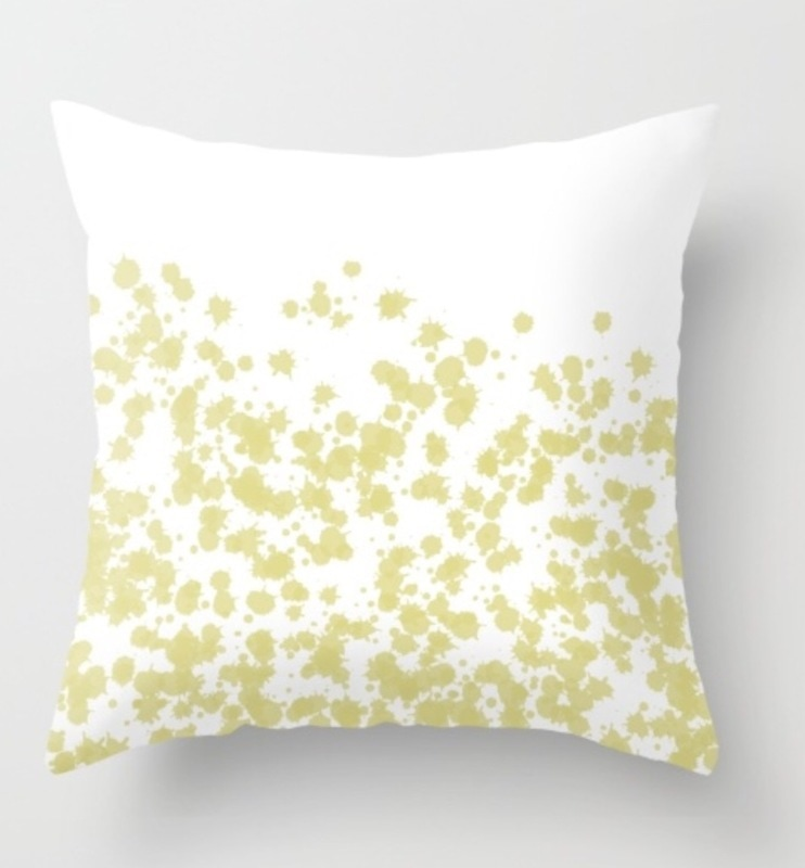 Splashes of Gold pillow
